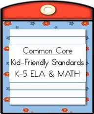 CCSS - kid friendly terms (English and Spanish)