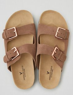 ac5cda566ae95 AEO Double Buckle Sandal. Brown SandalsLeather SandalsBrown Leather ShoesLeather  ...