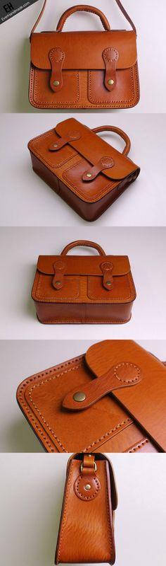 Handmade Leather satchel bag shoulder bag brown black for women leather crossbody bag