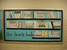 display board design favorite books bulletin stealing this for my elective bulletin board in the building hallway teaching library bulletin boards reading bulletin boards display board design ideas fo Ela Classroom, Middle School Classroom, Classroom Themes, Classroom Organization, Book Corner Classroom, English Classroom Decor, Classroom Libraries, Classroom Reading Area, Classroom Wall Displays