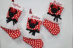 Christmas stockings, Minnie Mouse Christmas stockings, Children's Christmas stockings, Personalized Christmas stockings by DollyWollySewing on Etsy