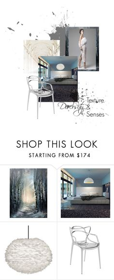 """""""Diversity: Texture & Senses"""" by ispdesign ❤ liked on Polyvore featuring interior, interiors, interior design, home, home decor, interior decorating, Oxford, Modloft and Kartell"""