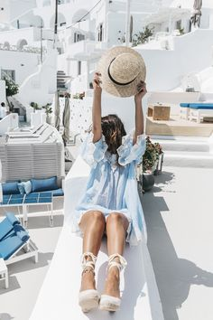 Blue_Dress-Soludos_Escapes-Soludos_Espadrilles-Canotier-Hat-Lack_Of_Color-Summer-Santorini-Collage_…