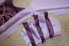 top stitch strips on, raw edges folded under Dress Tutorials, Sewing Tutorials, Sewing Crafts, Sewing Projects, Rapunzel Costume, Rapunzel Dress, Disney Shirts For Family, Family Shirts, Disney Family