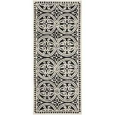 Safavieh Handmade Cambridge Moroccan Black/ Ivory Rug (2'6 x 8') | Overstock.com Shopping - The Best Deals on Runner Rugs