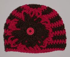 15% Off With Coupon Code SAVE15 Brown and Pink Stripe Hat and Diaper Cover - pinned by pin4etsy.com