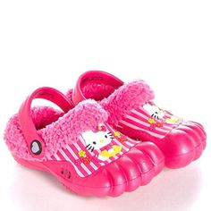 Hello Kitty Little Girl's Sherpa-Lined Toddler Clogs Size S 5/6 New #Sanrio #Clogs