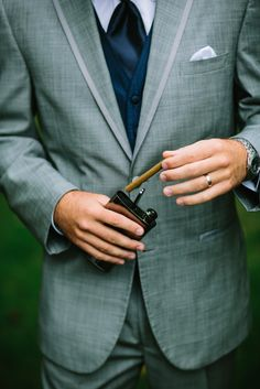Dapper groom's attire | A Nautical-Inspired Wedding Day