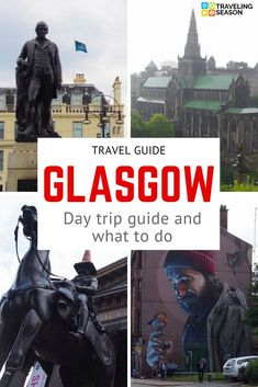 One day tour and trip guide with what to do in Glasgow, Scotland, including George Square, Necropolis, University of Glasgow and Kelvingrove Park. Glasgow Scotland, Scotland Travel, Ireland Travel, Scotland Trip, Edinburgh, Travel Deals, Travel Guide, Amazing Destinations, Travel Destinations