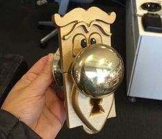 Instructable on Talking Doorknob from 'Alice in Wonderland'. I think i will sculpt my own using clay.