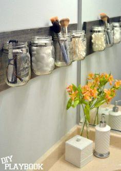Glasses, toothbrush, qtips, brushes&co., bathroom