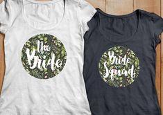 JGA T Shirt_Bridal Shower Shirt Greenery Floral Junggesellinnenabschied Wedding Bridal Shirts, Shirt Shop, Printed Shirts, Greenery, Bridal Shower, How To Memorize Things, Floral, Wedding, Shopping