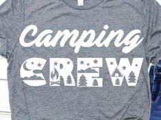 Camping Friends, Camping Life, Camping Humor, Funny Camping, Travel Shirts, Vacation Shirts, Happy Campers, Family Shirts, Camping Essentials
