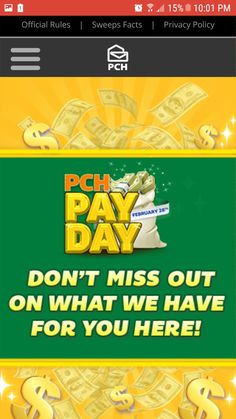 PCH PAY DAY I RRojas Claim My Ownership To Win $20,000.00 SuperPrize GWY #12659 Now Today.