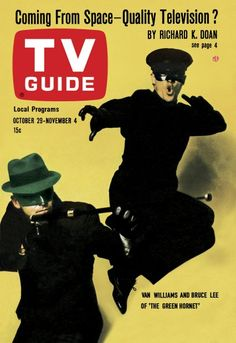 """TV Guide: October 29, 1966 - Van Williams and Bruce Lee of """"The Green Hornet"""""""
