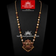 Extravagant Medly of Uncut Ruby and Pearls Pearl Necklace Designs, Gold Earrings Designs, Gold Jewelry Simple, Gold Jewellery, India Jewelry, Bridal Jewelry, Jewellery Shops, Chain Jewelry, Handmade Jewellery
