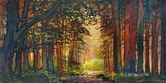 New  Fall Autumn Colors  Into The Woods Again  Giclee by gallery28