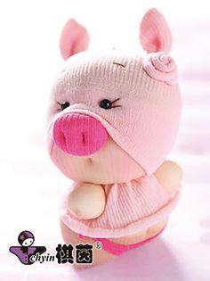 Priscilla Piggy  Candy Babies Stuffed Animal by ClassyThreadsKits, $12.00