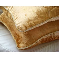 Gold Shimmer  Euro Sham Covers  26x26 Inches by TheHomeCentric