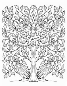 Gorgeous tree: --> If you're looking for the most popular coloring books and supplies including colored pencils, drawing markers, gel pens and watercolors, check out our website at http://ColoringToolkit.com. Color... Relax... Chill.