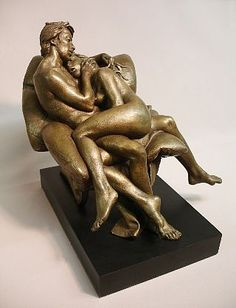 Bruno Lucchesi, Lovers (Affection), Ed. 2/6, 1985, bronze, 11 1/2 X 13 X 13 inches