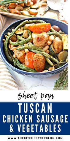 Tuscan Sheet Pan Chicken Sausage