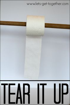 Break the toilet paper with a rubber band