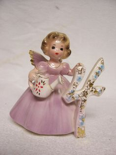 Vintage Josef Birthday Angel 4 Years Old by FabVintageEstates