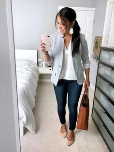 hot summer work outfits Women fashion for work Summer Work Outfits, Casual Work Outfits, Blazer Outfits, Business Casual Outfits, Professional Outfits, Work Casual, Spring Outfits, Business Attire, Outfit Work