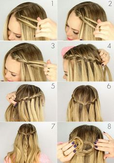 Zopfwasserfall flechten Crochet Hair Styles crochet braid styles for short hair Pigtail Braids, Bang Braids, Braids For Short Hair, Ideas For Short Hair, How To Braid Hair, Braided Hairstyles For Short Hair, Braids For Thin Hair, Pinterest Hair, Box Braids Hairstyles