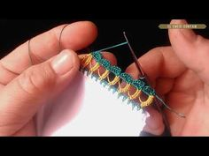 SIRALI TREN YOLU OYASI, Oya Yapımı - YouTube Saree Tassels, Needle Lace, Embroidery Designs, Needlework, Diy And Crafts, Hair Accessories, Etsy, Knitting, Embroidery Stitches