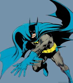 The comic books were diametrically opposed to the show (thankfully), dark and eerie thanks to writer Denny O'Neil and artistNeal Adams (that's his Batman up top). Description from smellslikeinfinitesadness.com. I searched for this on bing.com/images
