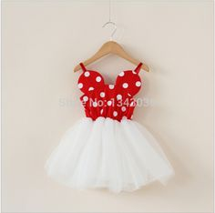 &E-babe&Wholesale 2015 NEW Baby Girls Summer Minnie Dot Slip Gauze Lovely Cute Dress Toddler Kids Clothes 10 Pcs Free Shipping #Affiliate