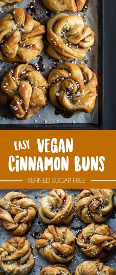 Those vegan, egg-free, and dairy-free Cinnamon buns also called Kardemummabullar are perfect with hot coffee and good friends. Brownie Desserts, Oreo Dessert, Mini Desserts, Coconut Dessert, Vegan Sweets, Vegan Desserts, Dessert Recipes, Vegan Food, Vegan Egg