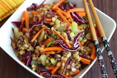This Asian Wheat Berry Salad is not only healthy and satisfying, it's incredibly delicious!