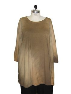 WeBeBop Plus Size Brown Organic Natural Dip Dyed Lagenlook Swing Top We Be Bop, http://www.amazon.com/dp/B0089OBROM/ref=cm_sw_r_pi_dp_wvSjqb0CDPFW3