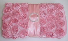 NEW ITEM  Pink Boutique Rosette Wipe Case by TheLollipopBoutique, $18.95
