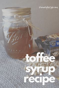 This Easy Toffee Syrup Recipe is easy to make and tastes delicious. Toffee Nut Syrup Recipe, Toffee Nut Latte, Homemade Toffee, Homemade Syrup, Butter Toffee, Toffee Sauce, Butterscotch Sauce, How To Make Toffee, Recipes