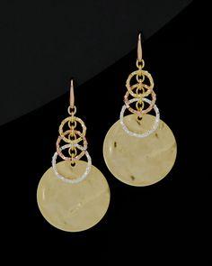 1AR by UnoAerre 18K Yellow & Rose & Silver Plated Drop Earrings is on Rue. Shop it now.
