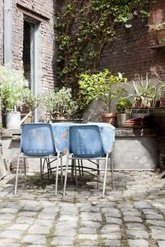 """: """"Every project is a search for the right solution,"""" says Pieter. """"When clients want to install a new terrace, but they lack the budget, we repaint old tiles or replace them with plants. Everything is possible."""""""