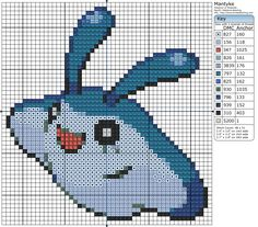 Mantyke Pokemon Cross Stitch, Cross Stitch Art, Cross Stitching, Cross Stitch Embroidery, Cross Stitch Patterns, Diy Perler Beads, Perler Bead Art, Hama Beads Patterns, Loom Patterns