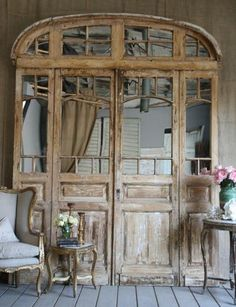 stunning raw wood doors