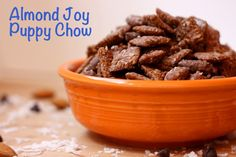 Almond Joy Puppy Chow (GF and Vegan Option) - Cupcakes & Kale Chips