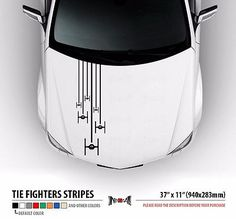 TIE FIGHTERS SQUAD Star Wars Hood Stripes Car Vinyl Sticker Decal