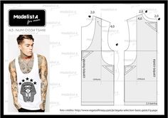 How to sew a T-shirt for Men - Sewing Method Mens Sewing Patterns, Sewing Men, Sewing Clothes, Clothing Patterns, Dress Patterns, Diy Clothes, Men's Clothing, Le Polo, Modelista