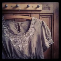 Rustic embroidered blouse