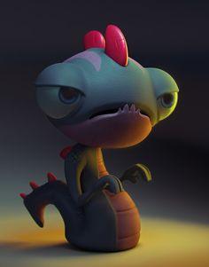 Little Monster, Fabricio Campos on ArtStation at https://www.artstation.com/artwork/little-monster-bffef93b-0d2b-4880-a9c6-6a2599d69cf0