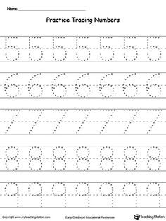 Number Tracing Worksheets | Printable Worksheets | Pinterest ...