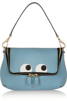 Anya Hindmarch|Maxi Zip embossed textured-leather shoulder bag|NET-A-PORTER.COM