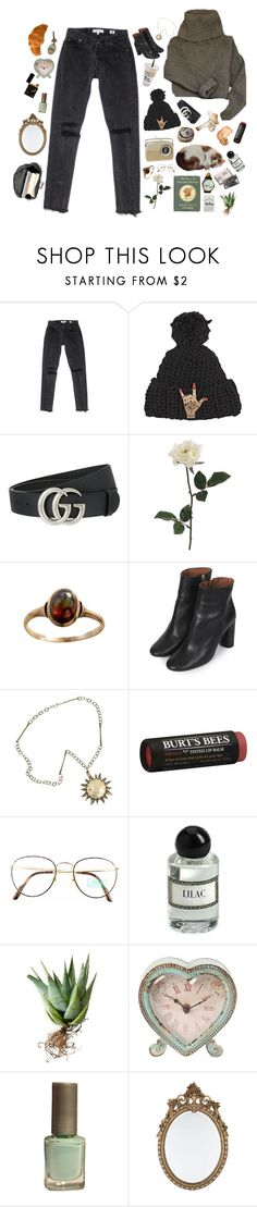 """here comes a thought that might alarm you what someone said and how it harmed you"" by rosalataieck ❤ liked on Polyvore featuring Maria Francesca Pepe, Gucci, Topshop, Burt's Bees, Benetton, Sass & Belle and COLOUR GOSSIP"